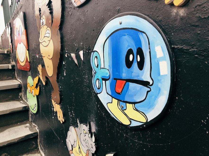 Decorations at Freddi Arcade & Toy Museum.
