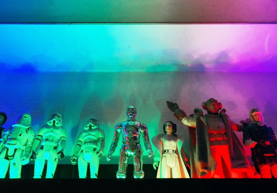 See a collection of Star Wars figurines at Freddi Arcade & Toy Museum