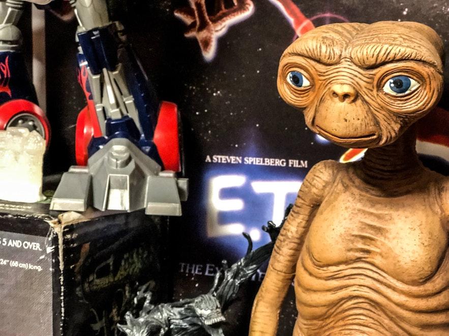 An E.T. figurine at Freddi Arcade & Toy Museum in downtown Reykjavík