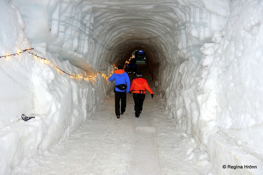 Inside the Ice Cave Tunnel in Langjökull Glacier in Iceland - Into the Glacier