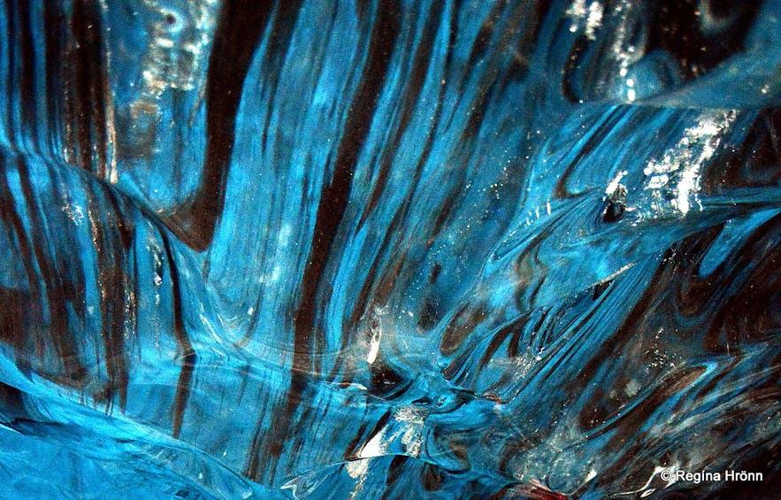Inside the Breiðamerkurjökull ice cave