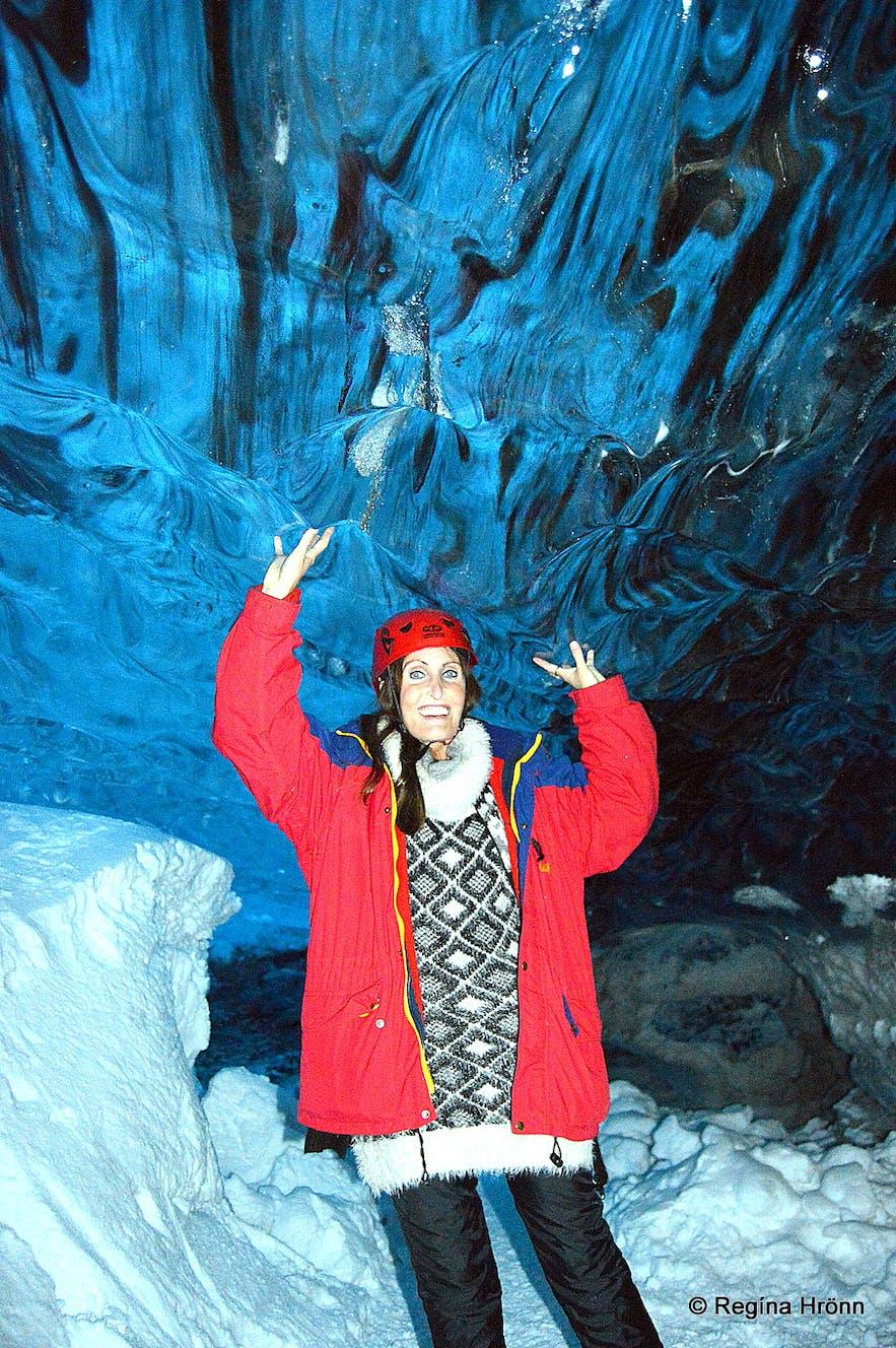 Regína Inside the Breiðamerkurjökull ice cave