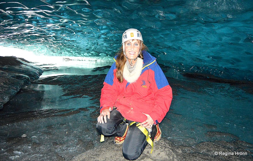 Amazing aquamarine Ice Caves in Vatnajökull glacier in Southeast-Iceland