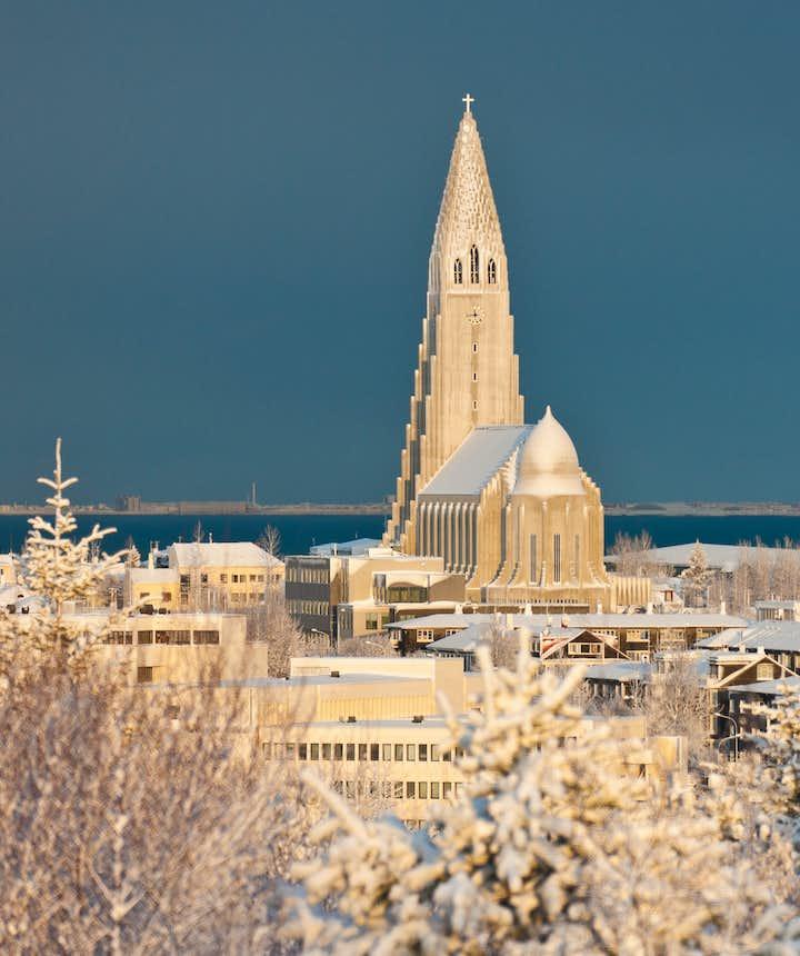 Hallgrímskirkja in wintertime