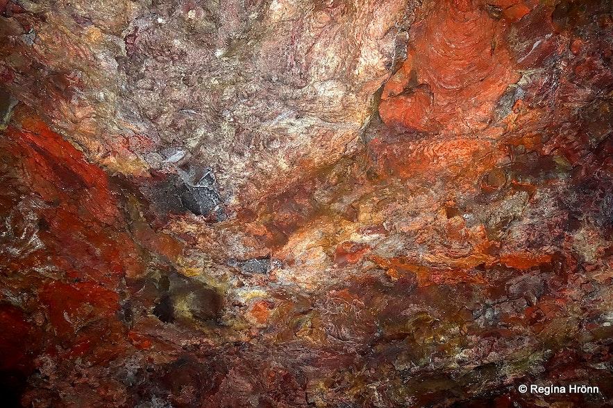 Colourful Lofthellir cave Mývatn