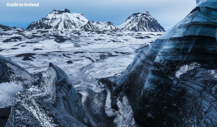 自驾冰岛特色旅行团优惠套票|三大热门冰川旅行团-卡特拉冰洞+冰川徒步+雪地摩托