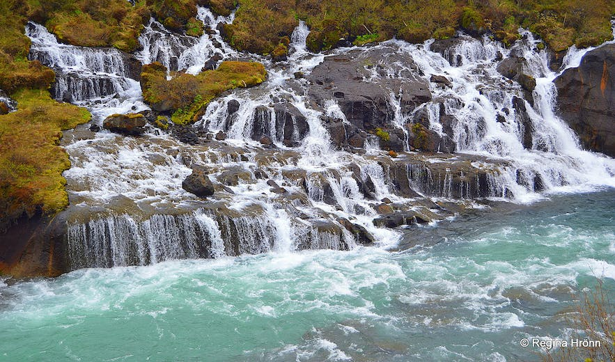 Hraunfossar waterfall in W-Iceland