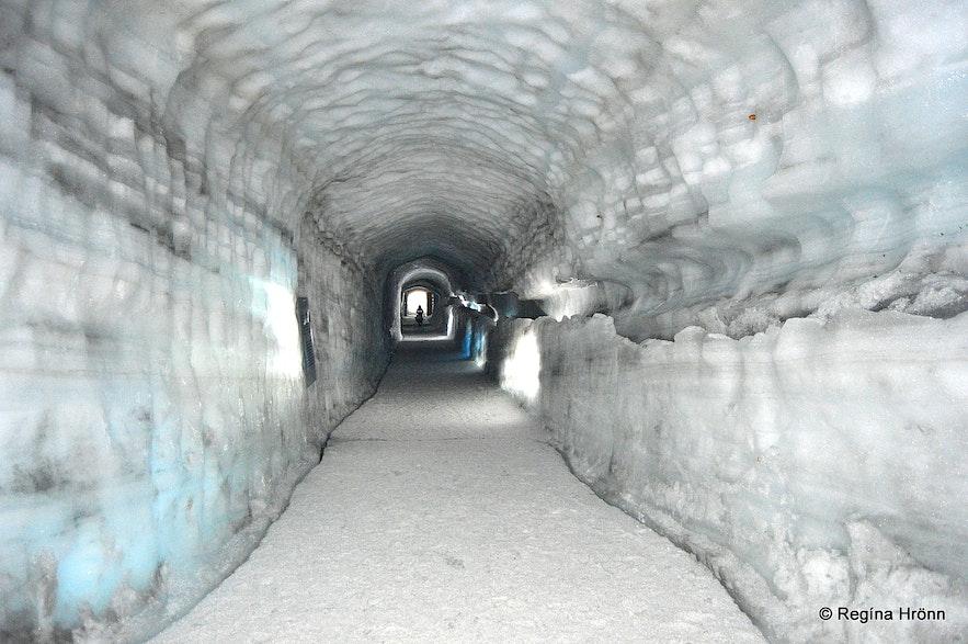 The Ice Cave tunnel - Into the Glacier