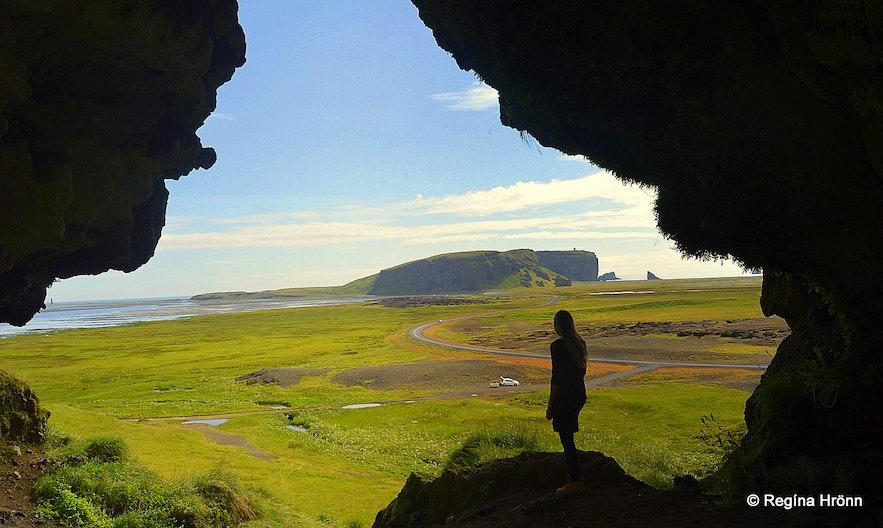 Regína inside  Loftsalahellir cave South-Iceland