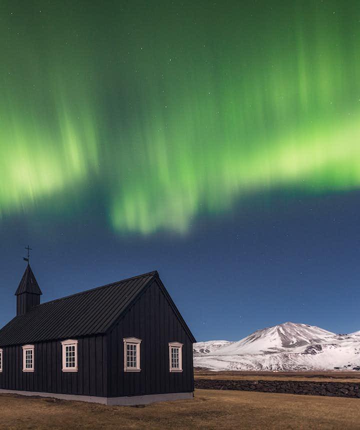 冰島斯奈山半島極光