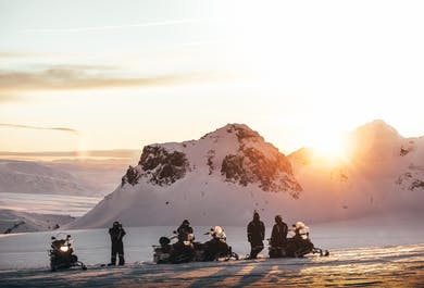 Midnight Sun & Snowmobiling Tour   Departure from Husafell