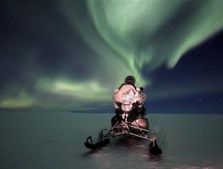 Northern Lights Snowmobile Tour   Departure from Gullfoss