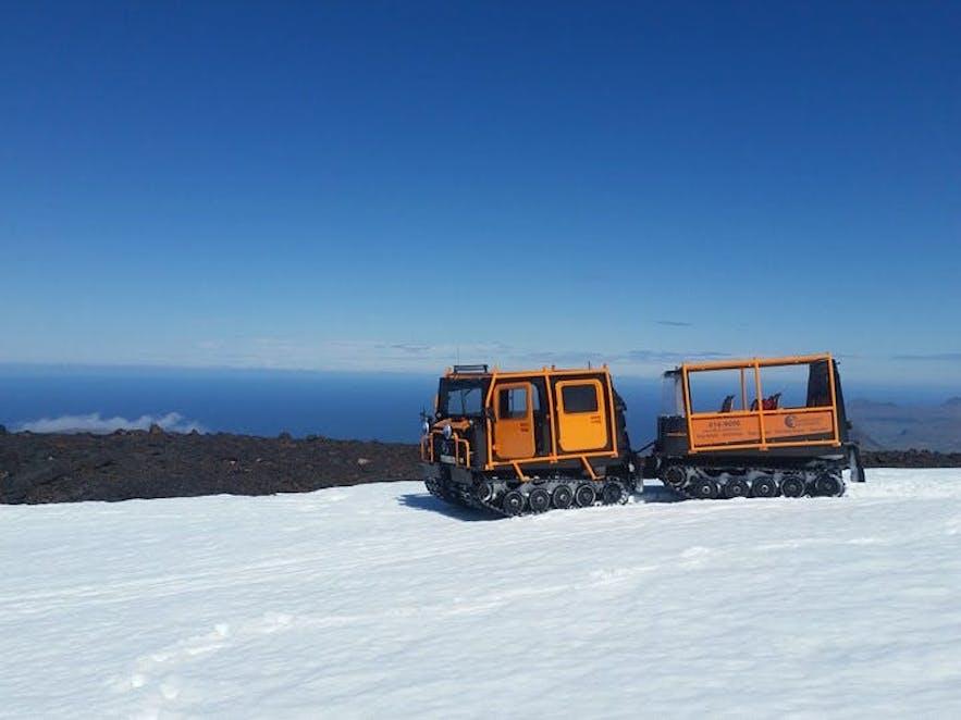 冰島冰原雪車
