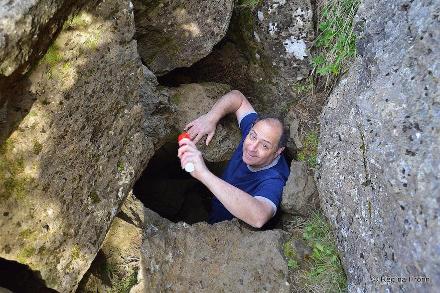 Maríuhellar caves Draugahellir - the Ghost cave