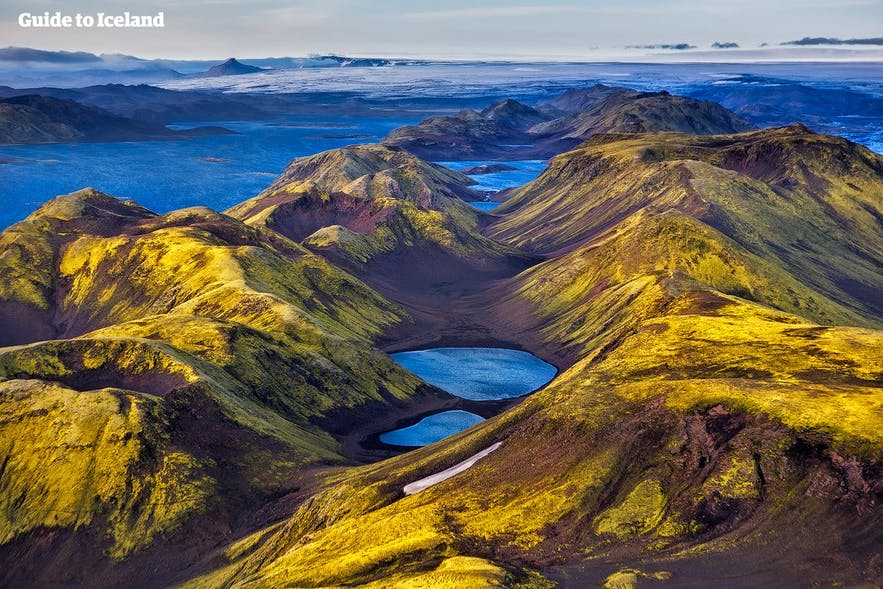 Islandzki interior z lotu ptaka