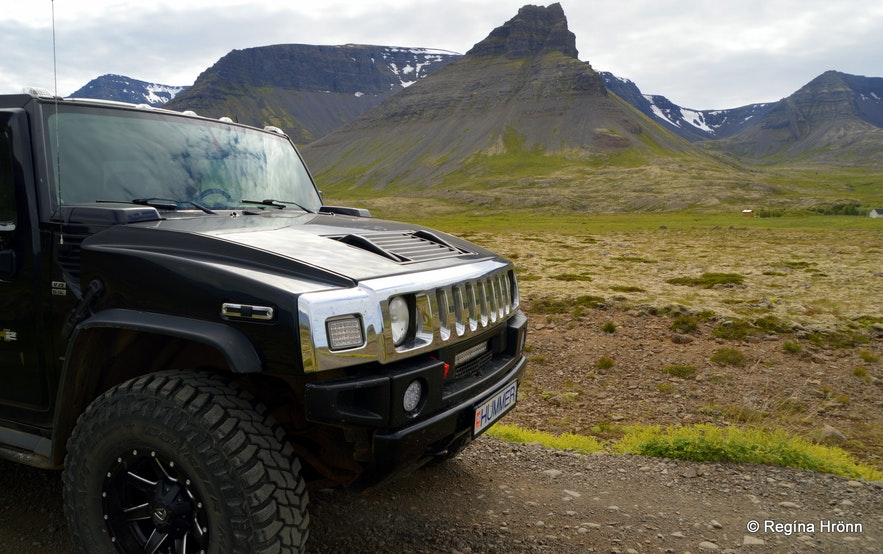 Driving on Westfjords roads - Keldudalur valley