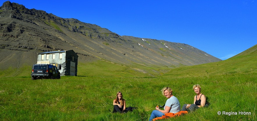Having picnic in Stapadalur valley Westfjords