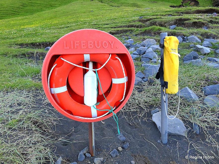 The life buoy at Reynisfjara beach