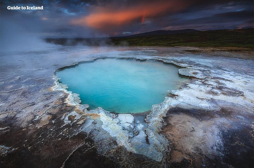 Hveravellir to jeden z największych obszarów geotermalnych Islandii.