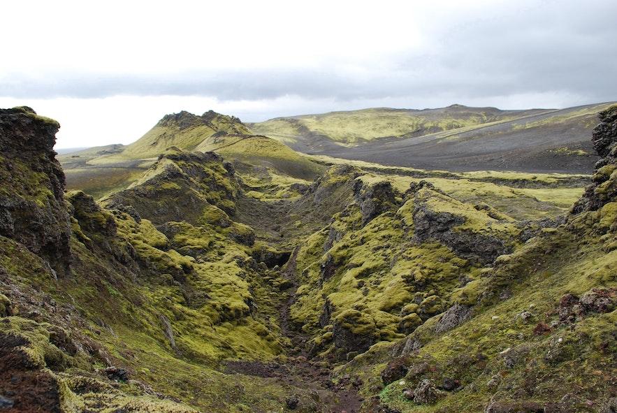 Wulkanicze krajobrazy ;Laki
