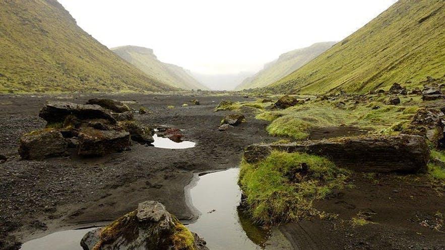 Kanion Eldgja w islandzkim interiorze