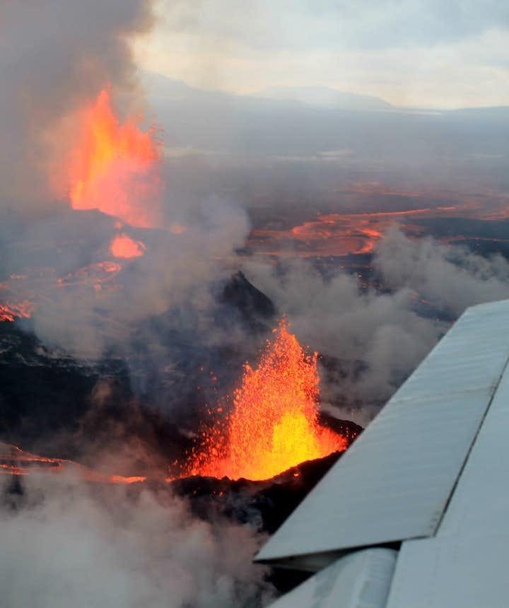 2014년 항공기에서 촬영한 바우르다르분가 화산