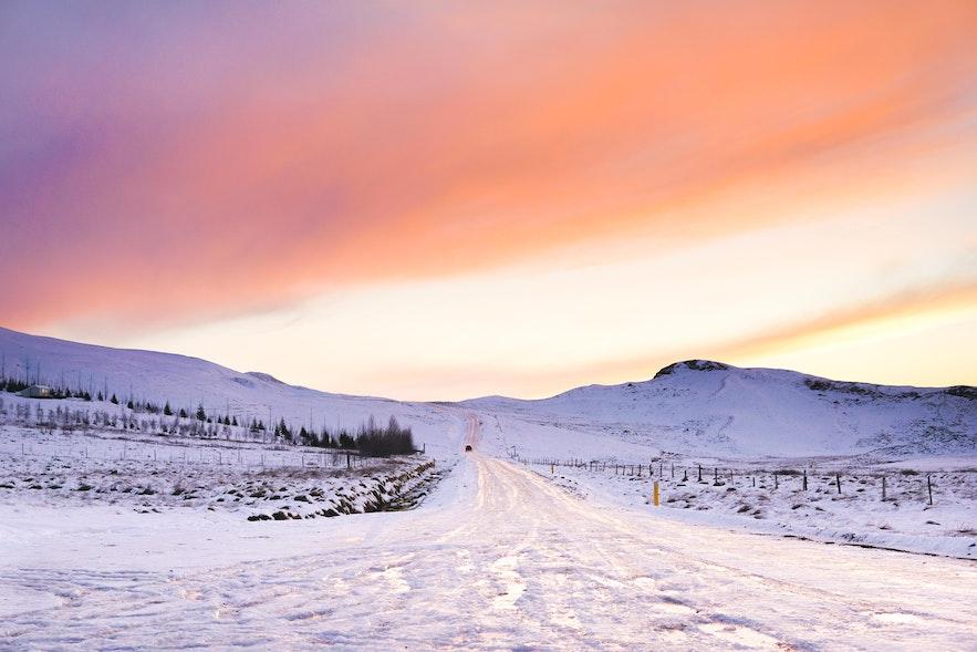 冰島冬季結冰路面