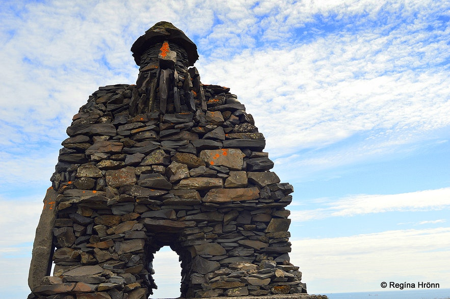 被称作章鱼爷爷的Bárður石像