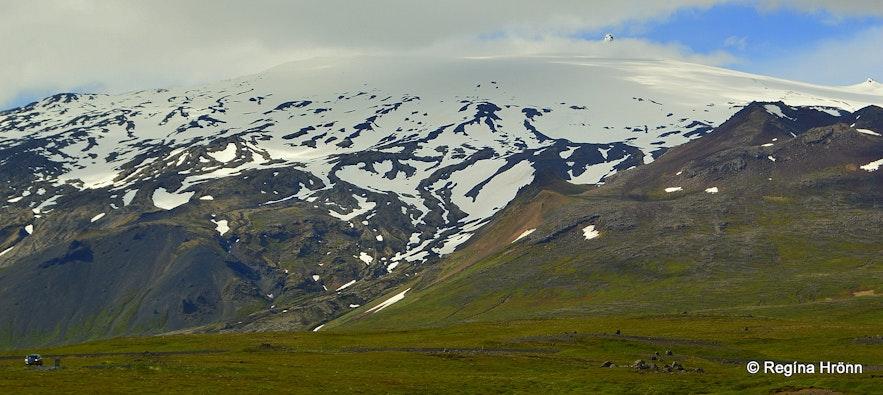 Snæfellsjökull glacier Snæfellsnes