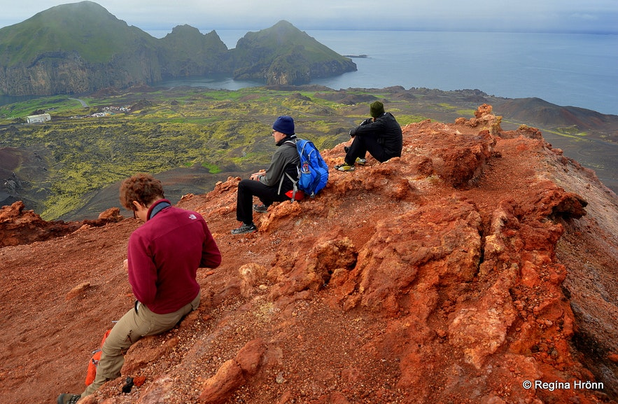 Eldfell crater in the Westman islands