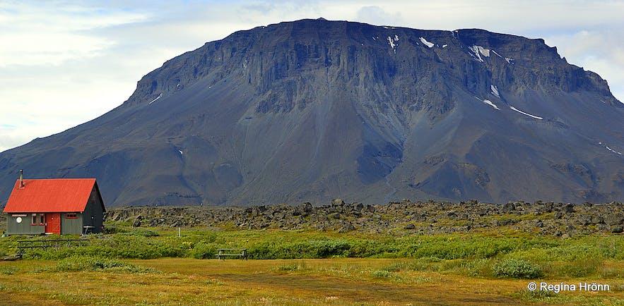 Herðubreiðarlindir oasis and Mt. Herðubreið