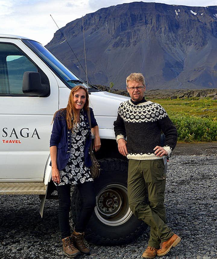 Regína at Herðubreiðarlindir - Mt. Herðubreið