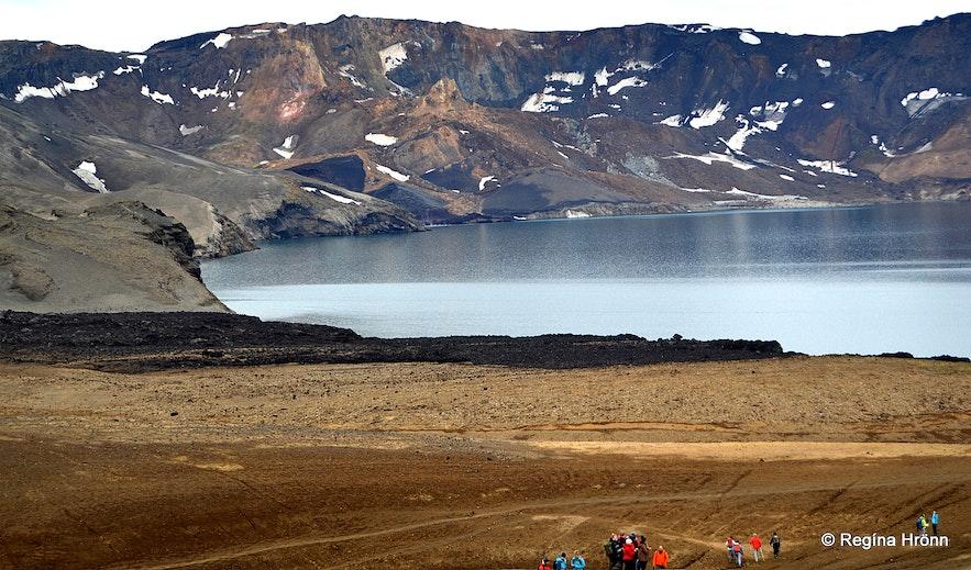 Lake Öskjuvatn in the highland of Iceland