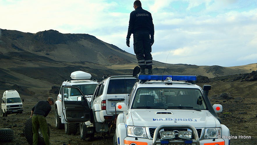 The Icelandic mountain police in the highlands