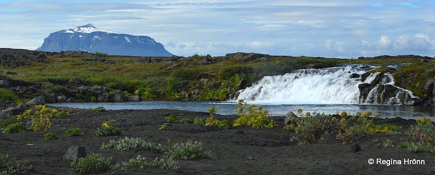 Grafarlönd river and Gáski waterfall