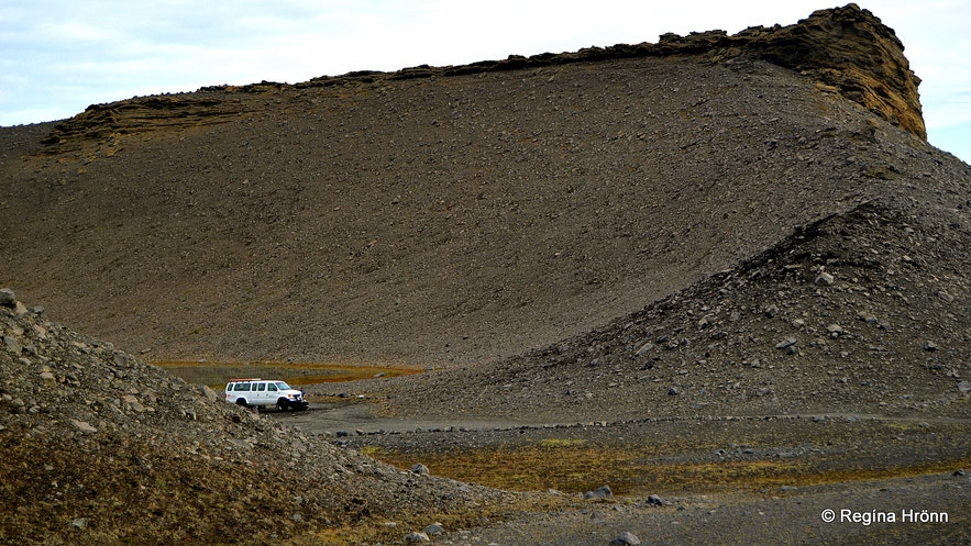 Hrossaborg crater in North-Iceland