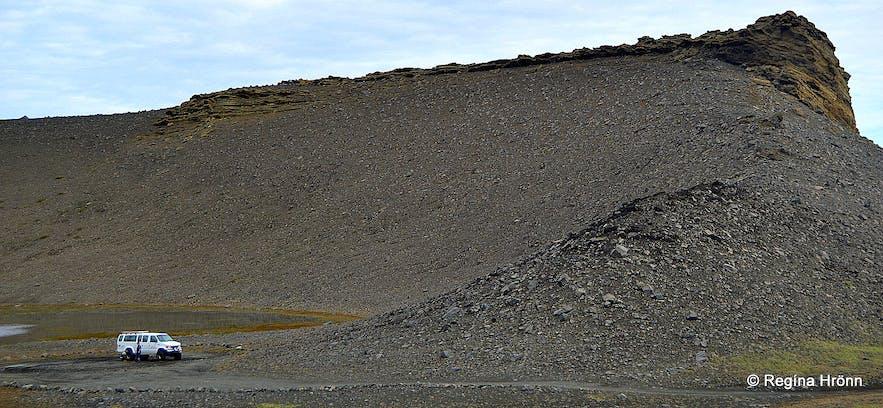 Hrossaborg crater Iceland