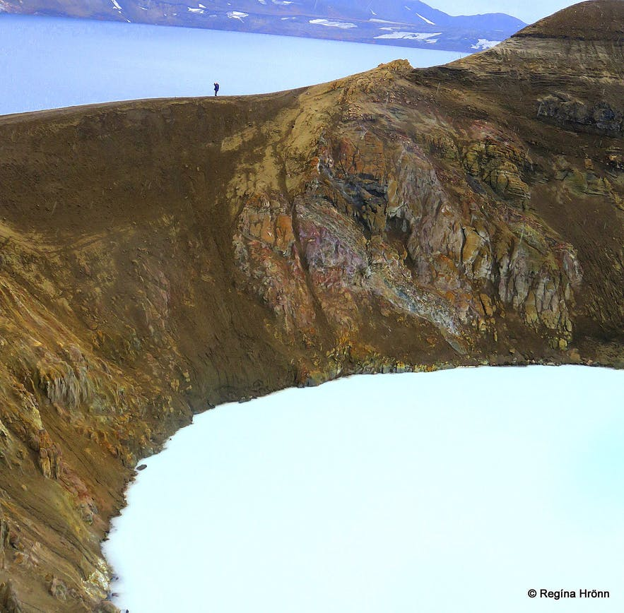 Víti explosion crater at Askja