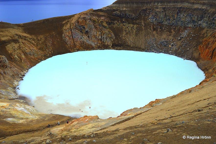 Víti explosion crater by Askja