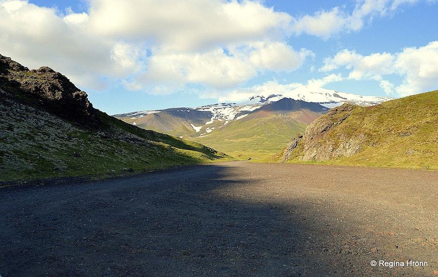Hólahólar craters Snæfellsnes
