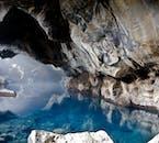 The underground hot springs of Grjótagjá canyon.