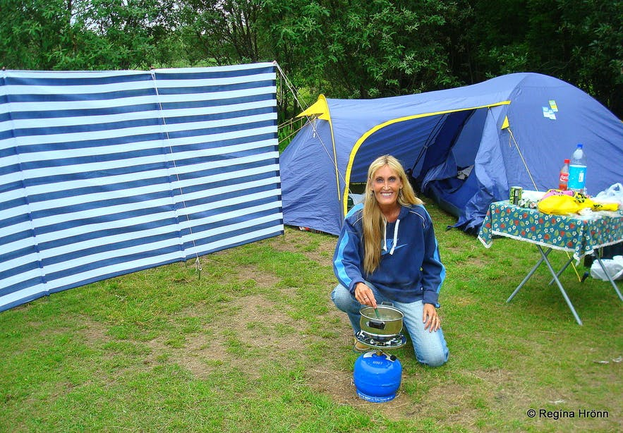 Regína camping in Ásbyrgi NE-Iceland
