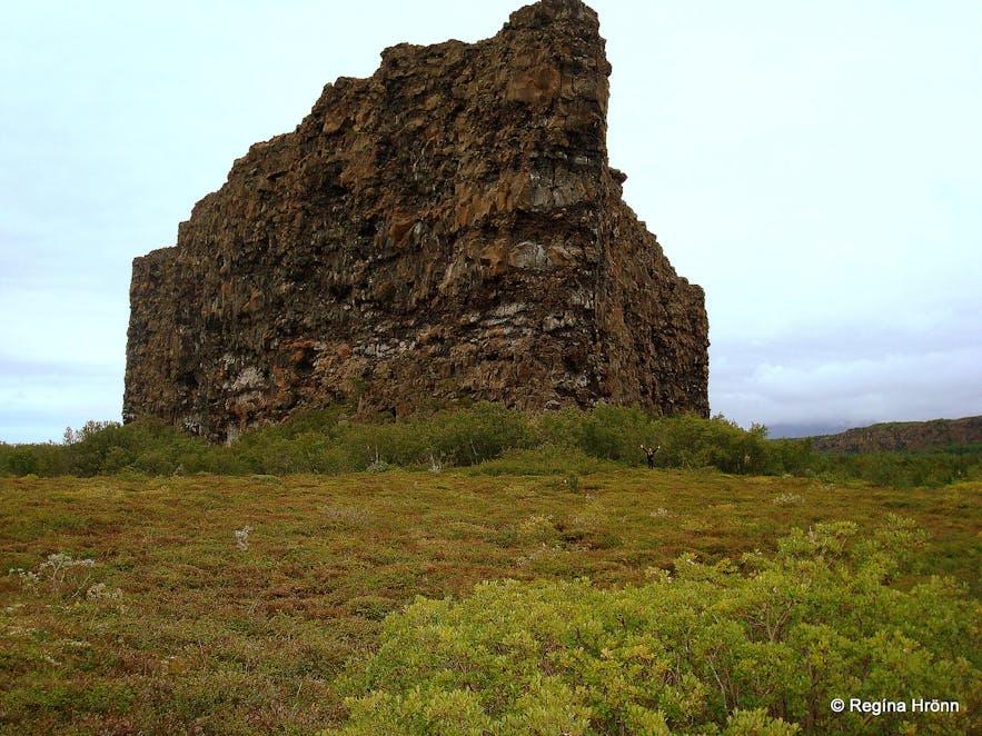 Eyjan cliff in Ãsbyrgi, North Iceland