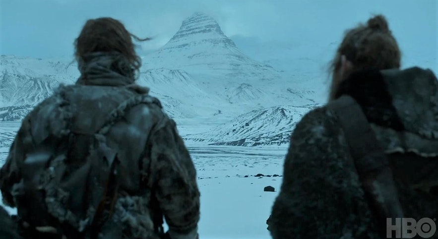 冰与火之歌权力的游戏-箭头山取景地-冰岛斯奈山半岛草帽山