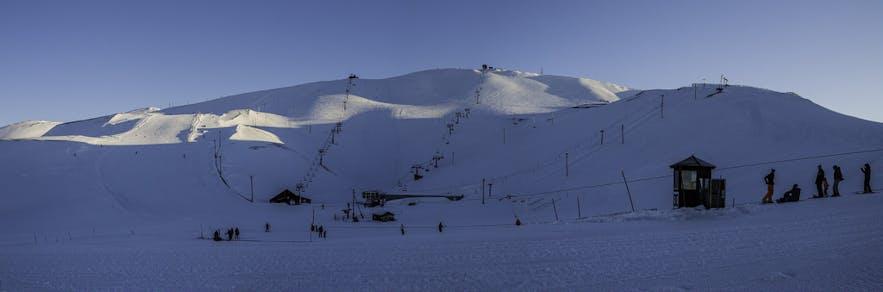 冰島的藍山滑雪場