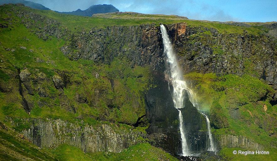 Bjarnarfoss waterfall Snæfellsnes peninsula