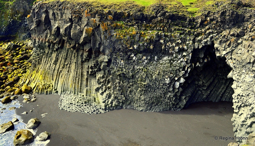 Arnarstapi beautiful basalt columns