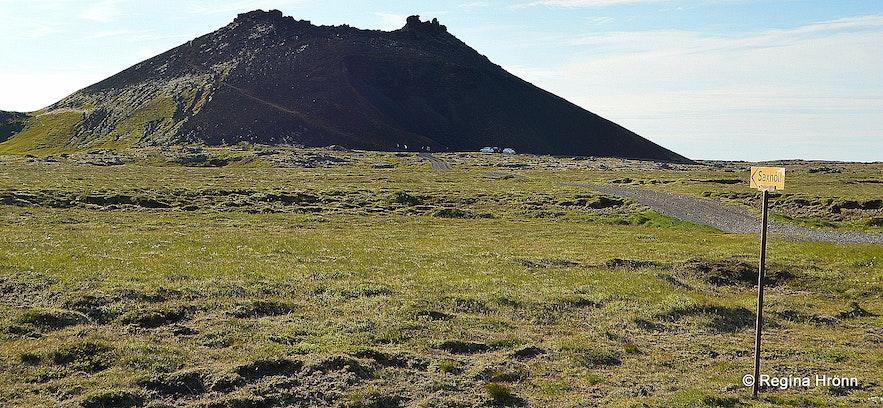 Saxhóll crater Snæfellsnes