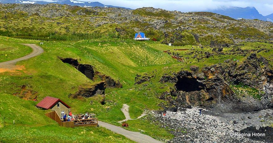 Fjöruhúsið café in Hellnar on Snæfellsnes peninsula, west Iceland