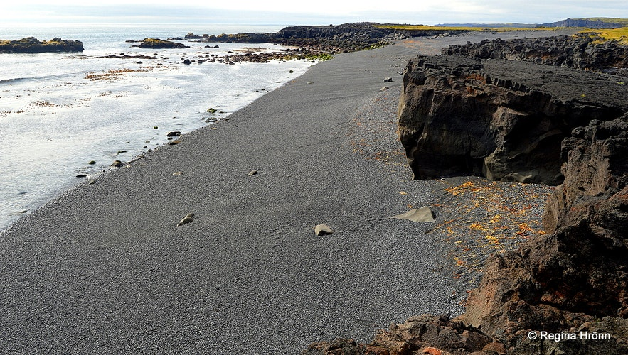 A black beach on the Snæfellsnes peninsula